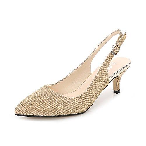 OCHENTA Zapatos de Tacón Clásicos Espigones con Hebillas y Tiras EN La Parte Trasera para Mujer Glitter...