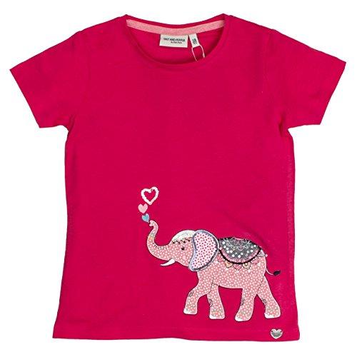 Salt and Pepper T-Shirt Wonderful Uni Elefant, Camiseta para Niñas, Rosa (Raspberry...