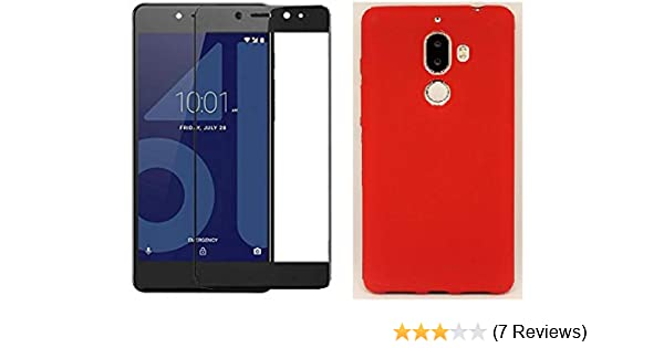 Eflex Combo of 5D Tempered Glass Black and Back Cover