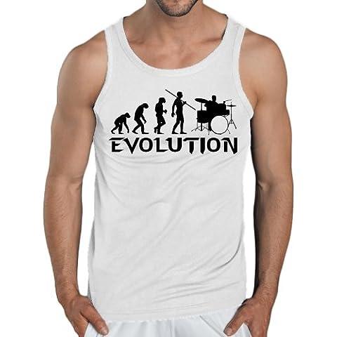 Evolution Canotta, taglie S-XXL, colori assortiti, bianco, S