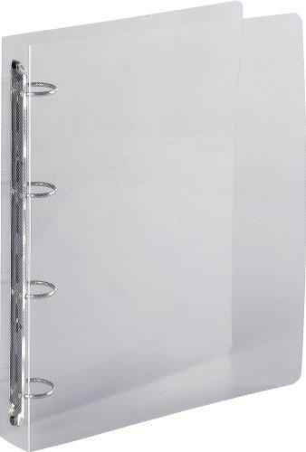 Exacompta-51342E-Classeur-Polypro-A4-Maxi-Quatre-Anneaux-de-30-mm-Dos-de-40-Transparent-Gamme-Crystal