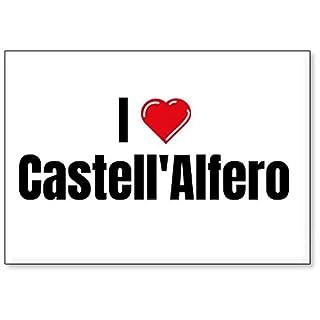 Mundus Souvenirs - I Love Castell'Alfero, fridge magnet (design 3)