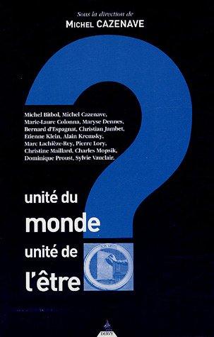 Unit du monde, unit de l'tre