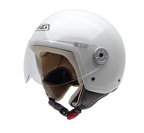 NZI Vintage II Casco de Moto, Blanco Nácar, 55-56 (S)