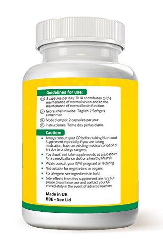 Aceite de pescado Omega 3 de máxima fuerza – 1000mg: 180 de EPA 120 de DHA por dosis – 180 cápsulas de gelatina de Nathans Natural