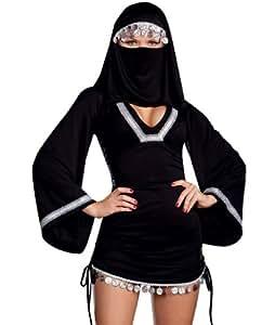 Saoudite religieuses noires portent des v¨ºtements sexy , le Moyen-Orient , l'Inde enseigner costume tao?ste , costumes d'Halloween