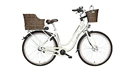 FISCHER E-Bike RETRO ER 1704, Vorderradmotor 36 V/317 Wh und LED-Display, Rücktrittbremse - Beige