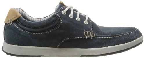 Clarks Norwin Vibe, Chaussures de ville homme Bleu (Navy Canvas)
