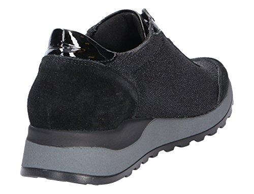 Femme Waldläufer Waldläufer Noir Bassi Sneakers Sneakers wqz4p4CR