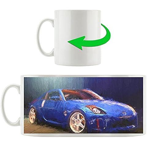 Nissan 350Z tazza motivo blu in bianco 300ml ceramica, grande idea regalo per ogni occasione. La tua nuova tazza preferita per caffè, tè e bevande calde. - Nuovo Nissan 350z