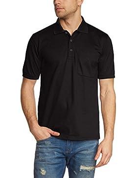 Trigema Herren Poloshirt Brusttasche, Einfarbig