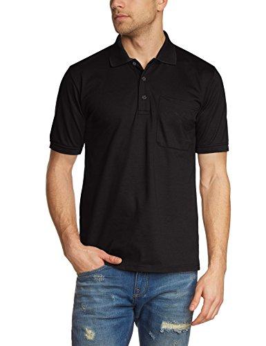 Trigema Herren Poloshirt Brusttasche, Einfarbig, Gr. XXXXX-Large, Schwarz (schwarz 008) (Pique Polo Waschen)