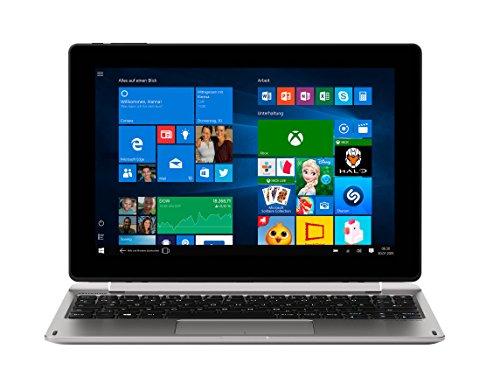 MEDION E1240T 25,6 cm (10,1 Zoll HD Display) Notebook (Intel Atom x5-Z8350, 2GB RAM, 64GB Flash-Speicher, Intel HD-Grafik, Win 10 Home) Silber*