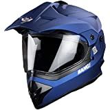 Steelbird SBH-13 7Wings Bang Motocross Helmet in Glossy finish with Plain Visor (Large 600 MM, Glossy Y. Blue)