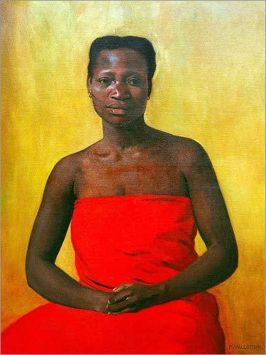 Posterlounge Acrylglasbild 120 x 160 cm: Sitzende Frau von Felix Edouard Vallotton/akg-Images - Wandbild, Acryl Glasbild, Druck auf Acryl Glas Bild