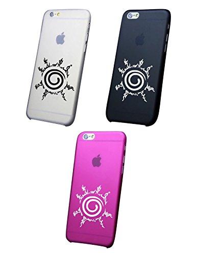 Cover IPHONE X-8-8PLUS 6 - 6 PLUS - 6S - 6S plus - 7 - 7 plus - NARUTO SIGILLO OTTAGONALE Trasparente VARI COLORI UltraSottili AntiGraffio Antiurto Case Custodia Rosa