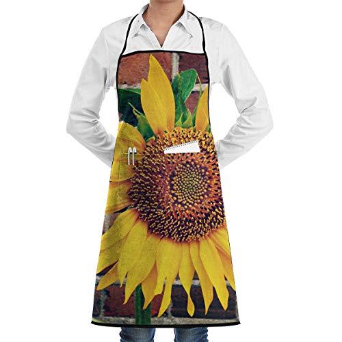 Garten-Schürze kochtn, Apron with Pockets - Bloom Brick Wall Kitchen Restaurant Bistro Craft Garden Aprons for Men Woman ()