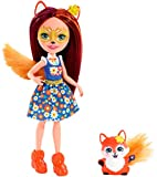 Enchantimals Mini-poupée Felicity Renard et figurine animale Flick, à la longue chevelure châtain avec jupe amovible, jouet pour enfant, FXM71