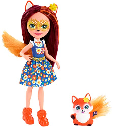 Enchantimals FXM71 Felicity Fox Doll (6 Inch), and Flick Animal Friend Figure, Multicolored