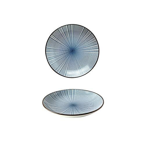 Geschirr japanische Keramik Hotel Haushalt Reis Schüssel Besteck Zubehör (Color : 7-inch disc) (7 Schüssel)