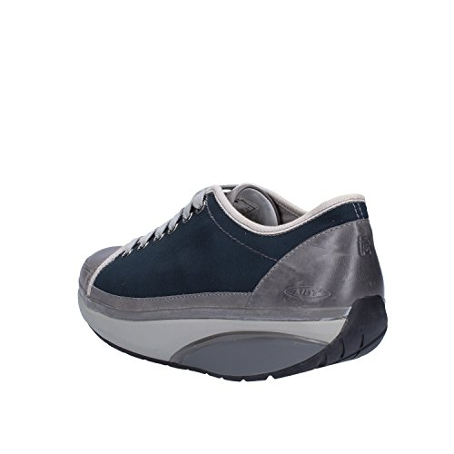 MBT Sneakers Donna Pelle Tessuto Blu/Grigio