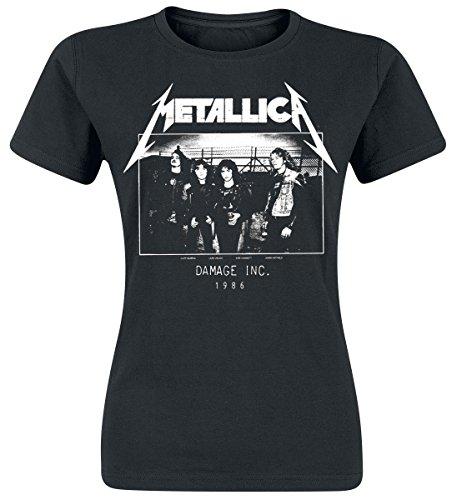 Metallica Master Of Puppets Tour 1986 Photo Maglia donna nero S
