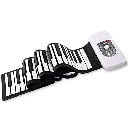 BESTSOGER 88-Keys Roll Up Piano, Upgraded Portable Akku-Hand-Roll-Klavier mit umweltverträglichem Silikon-Klavier-Klobott für Anfänger