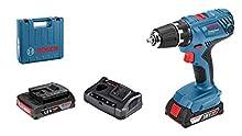 Bosch Professional 18V System Akku-Bohrschrauber GSR 18V-21 (max. Drehmoment: 55 Nm, inkl. 2x2,0 Ah Akku, Ladegerät GAL 18 V-20, L-Case)