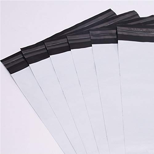logei® 100St Folienversandtaschen Plastikversandbeutel Versandbeutel Warenbeutel Versandtasche, undurchsichtig, 35cm x 45cm