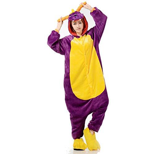 JIAWEIDAMAI Pyjamas Drachen Onesies Für Männer Erwachsene Frauen Cartoon Kostüm Lustige Festival Party Overall Halloween Spielanzug