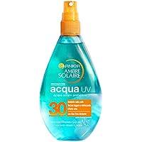 Garnier Ambre Solaire Spray Protezione Solare, Acqua Solare Protettiva UV Arricchita con Aloe Vera, IP30, 150 ml