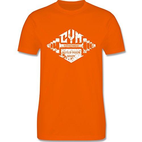 CrossFit & Workout - Gym Build your Body - Herren Premium T-Shirt Orange