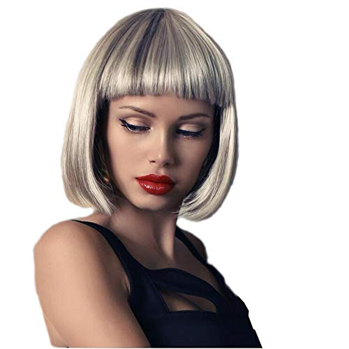 (Wig Hochtemperatur Seide knallt kurze gerade Haare chemische Haar Perücke hellbraun)