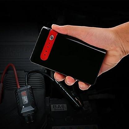 41C3ItgYxDL. SS416  - Arrancador de Coche Portatil 10000mAh 500A Jump Starter Power Bank Arrancador de Moto Arranque para 12V 2.5L Gasolina Batería Externa Recargable, LED Flashlight, Multifunción con Inteligente Cables
