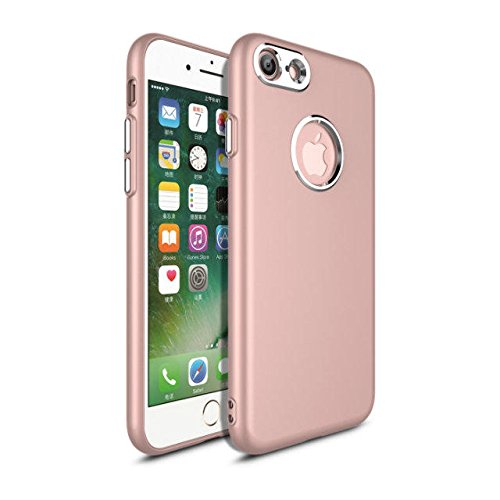 METAL KEY SOFT TPU MOBILE CASE FOR APPLE/ IPHONE 7 /IPHONE 8 RED ROSE GOLD