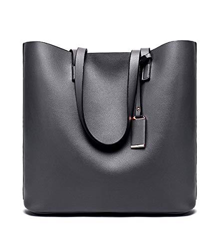 FANnb Handtasche Big Bag Damen Tasche Mode Damen Schultertasche, dunkelgrau