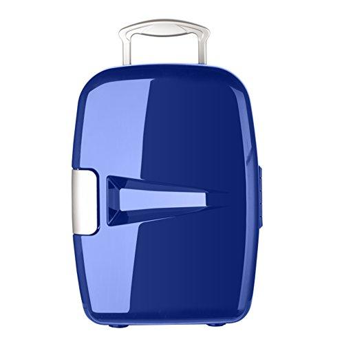 SL&BX Auto kühlschrank,7l Auto dual-use-kühlschrank kleinen schlafsaal Haushalt kühlung minikühlschrank tragbare Retro-kühlschrank für zuhause-Blau 25.2x22.1x30.9cm(10x9x12inch)