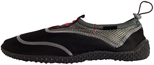 Aqua-Speed Aquaschuhe Chaussure de l'eau / Chaussures de surf / Chaussures de bain 2014 Noir/Gris/Rouge