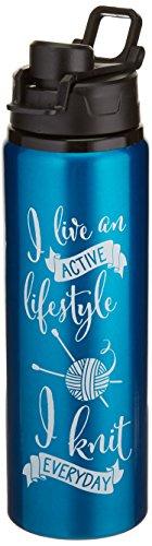 K1C2 k1 C2 Tricot Happy Lifestyle Bouteille d'eau 28oz-Aqua, d'autres, Multicolore