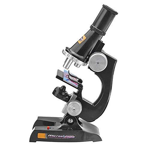 Mouwa Kinder-Mikroskop-Set, 100X-400X-1200X Biologisches Mikroskop Kit Experiment