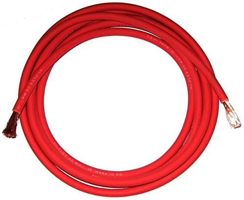 Welding Cable Battery Live 175 Amp 16mm Red Flexible Per Meter Mig Tig Arc Welder