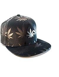 Gorra Visera Plana. Gorro de Beisbol Hip Hop Trucker Snapback Casual Hombre  y Mujer Cannabis b8d063b8c1e