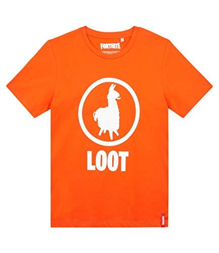 Fortnite Camiseta para Niños (16 años, Rojo Naranja)