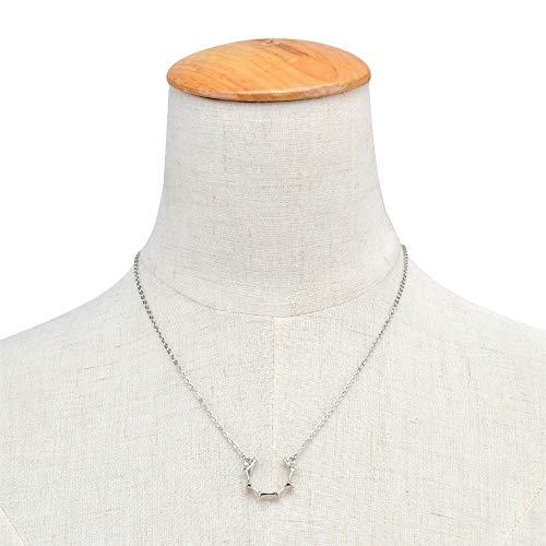 ZUXIANWANG Halskette Einfache des Meisters Sun Legierung Anhänger mit Halskette Charme Silber Halskette für Frauen Mädchen Accessoires Schmuck (Sun Meister)