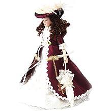 1/12 Bambole Di Porcellana Casa Delle Bambole In Miniatura Signora Classico Con 1pcs Cappello