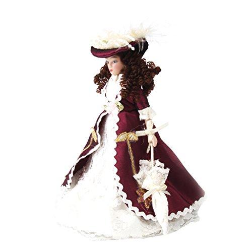 1/12 Dollhouse Señora Muñeca Figura Modelo de Porcelana para Casa de Muñecas