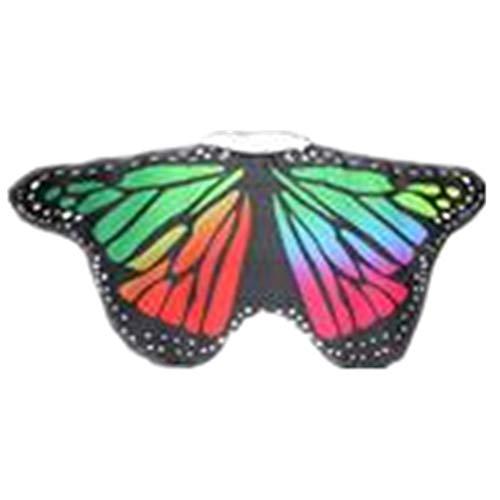 TIFIY Halloween Mädchen Schmetterling Schal Cosplay Pixie Vertuschen Outwear Beach Kostüm Zubehör Partei Böhmischen Kleidung Heißer 118 * 48 cm