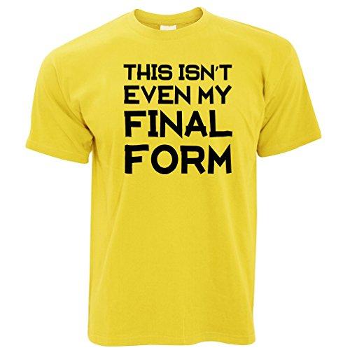 Das ist nicht einmal meine Endform Lustige Slogan Gymnastik-Training Herren T-Shirt Yellow