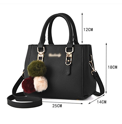 5b1a7d38ce02b Baymate Mode Handtaschen Henkeltaschen Elegante Umhängetasche für Damen  Schultertasche Crossbody Tasche Schwarz ...