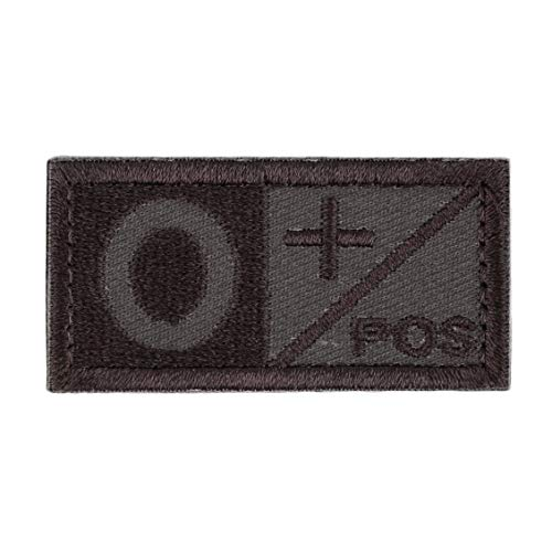 ForceSthrength 3D Blood Type Patch AB AB O POS NEG Coyote Tan OD Green Patch (O Negative-patch Type)